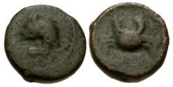 Ancient Coins - aVF/aVF North Africa Apollonia Port of Cyrene Æ14 / Jerboa / Crab