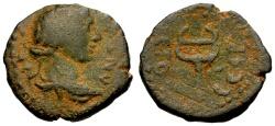 Ancient Coins - aVF/aVF Syria, Antioch, Imperial Times Civic Æ13 / Apollo / Caduceus