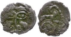 Ancient Coins - Ancient France. Celtic Gaul. Armoricans. Andecavi AR Obol / Boar