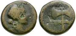 Ancient Coins - Lydia. Thyateira Æ14 / Double Axe