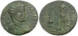 Ancient Coins - Valerian I. Cilicia. Irenopolis-Neronias Æ Octassarion / Hygeia and Asklepios