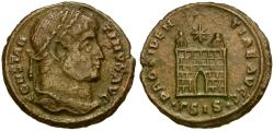 Ancient Coins - Constantine I the Great (AD 306-337) Æ  Nummus / Camp Gate