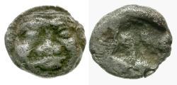 Ancient Coins - Macedon. Neapolis AR Obol / Gorgon