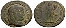 Ancient Coins - Constantius I as Augustus Æ Follis / Genius