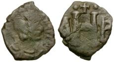 Ancient Coins - Byzantine Empire. Justinian I Æ 8 Nummi