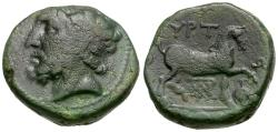 Ancient Coins - Thessaly. Gyrton Æ17 / Horse