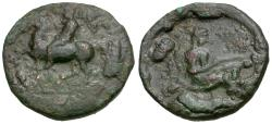 Ancient Coins - Thessaly. Pelinna Æ16 / Mantho