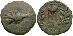 Ancient Coins - Sikyonia. Sikyon Æ Trichalkon / Tripod in Wreath