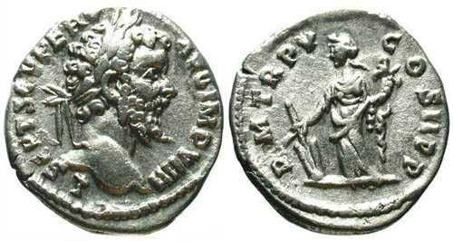Ancient Coins - Septimius Severus AR Denarius / Fortuna