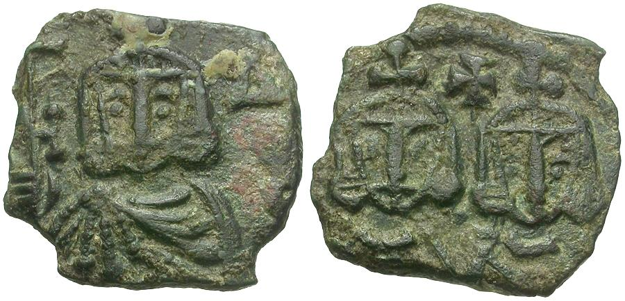 Ancient Coins - *Sear 1569* Byzantine Empire. Constantine V Copronymus (AD 743 - 775) Æ Follis
