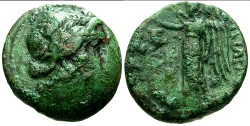 Ancient Coins - aVF/aVF Kings of Thrace Kavaros / Nike