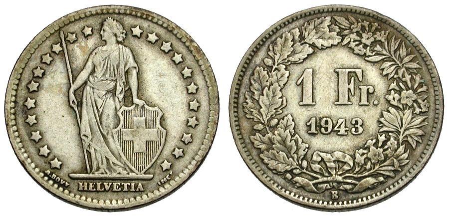 Ancient Coins - Switzerland AR 1 Franc