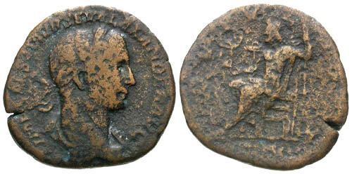 Ancient Coins - aF/aF Severus Alexander AE Sestertius / Jupiter