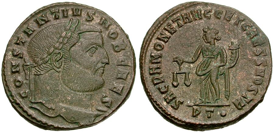 Ancient Coins - Constantius I, as Caesar (AD 293-305) Æ Follis / Moneta