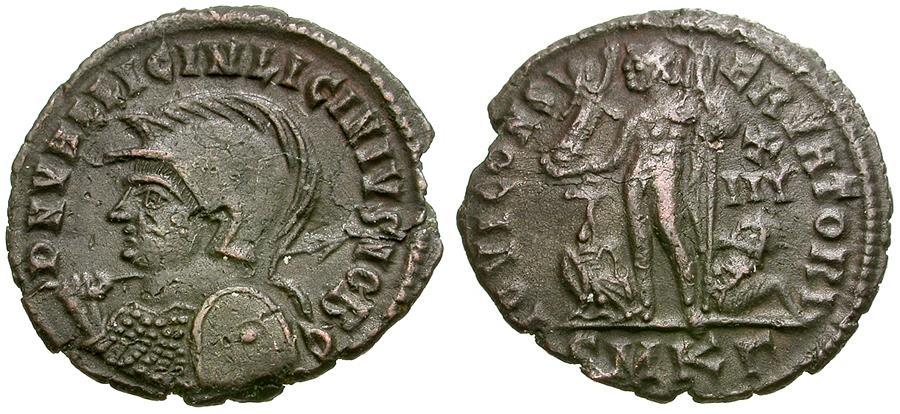 Ancient Coins - Licinius II, as Caesar (AD 317-324) Æ3 / Jupiter
