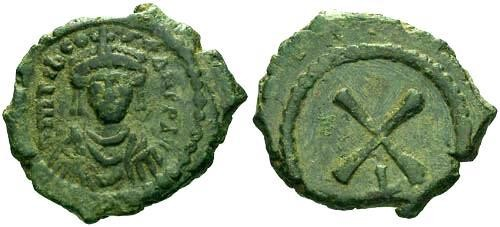 Ancient Coins - VF/VF Tiberius II Constantine Decanummium