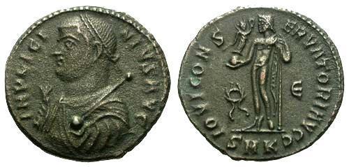Ancient Coins - aVF/aEF Licinius AE3 / Jupiter R1