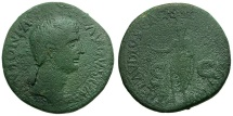 Ancient Coins - Antonia. Mother of Claudius Æ AS / Claudius Togate