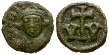 Ancient Coins - Byzantine Empire. Constans II Æ 10 Nummi