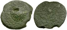 Ancient Coins - Judaea. Herodian Kings. Herod I the Great Æ 4 Prutot / Shield and Helmet