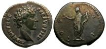 Ancient Coins - Marcus Aurelius as Caesar AR Denarius / Honos