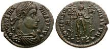 Ancient Coins - Constantius II Æ Centenionalis / Emperor and Standards