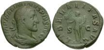 Ancient Coins - Maximinus I Æ Sestertius / Liberalitas