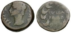 Ancient Coins - Augustus.  Spain. Julia Traducta Æ24 / Wreath