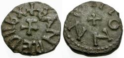 World Coins - Anglo-Saxon. Kings of Northumbria. Eanred (810-854). Monne, moneyer Æ Styca