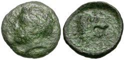 Ancient Coins - Thessaly. Pherai Æ13 / Lion Fountain