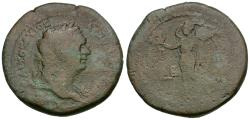 Ancient Coins - Domitian (AD 81-96). Egypt. Alexandria Æ Hemidrachm / Dattati Plate Coin