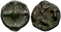 Ancient Coins - Thrace. Istros Cast Wheel Money / Scarce Early Coinage