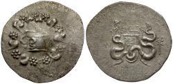 Ancient Coins - Phrygia. Laodikea AR Cistophoric Tetradrachm / Cista Mystica