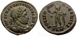Ancient Coins - Constantine I The Great Æ3 / Sol