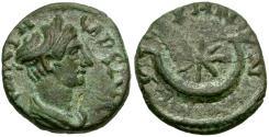 Ancient Coins - Sabina (AD 128-137). Cilicia. Cestrus Æ17 / Crescent and Stars