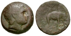 Ancient Coins - Seleukid Kings of Syria. Antiochos III The Great Æ25 / Elephant