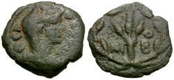 Ancient Coins - Diva Faustina I (died AD 141). Arabia. Bostra Æ15