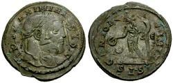 Ancient Coins - VF/VF Galerius as Augustus Æ Follis / Unique Double Strike