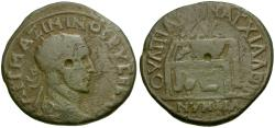 Ancient Coins - Maximinus I. Thrace. Anchialus Æ 5 Assaria / Prize Table
