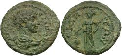 Ancient Coins - Severus Alexander as Caesar (AD 222). Pamphylia. Side Æ28 / Athena Voting