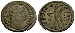 Ancient Coins - aEF/aEF Licinius I Æ Follis / Genius