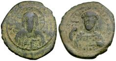 Ancient Coins - *Sear 1854* Byzantine Empire. Constantine X (AD 1059-1067) Æ Follis