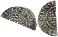 World Coins - Great Britain. Plantagenet Dynasty. Henry II (1158-1180) AR Penny. Short Cross type, class Ib / Cut for Change