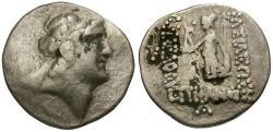 Ancient Coins - Kings of Cappadocia. Ariarathes V Imitative AR Drachm / Athena