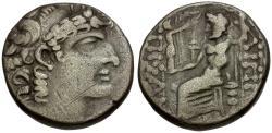 Ancient Coins - Seleukid Kingdom. Philip I Philadelphos AR Tetradrachm / Zeus Enthroned