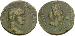 Ancient Coins - Severus Alexander (AD 222-235). Mesopotamia. Nisibis Æ27 / Bust of Tyche