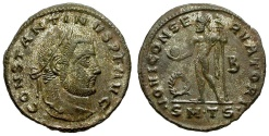 Ancient Coins - Constantine I the Great Silvered Follis / Jupiter