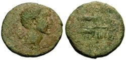 Ancient Coins - gF+/F Augustus, Cilicia, Unknown Mint Æ22 / Zebus ploughing