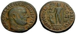 Ancient Coins - VF/VF Licinius I Æ3 / Jupiter and eagle