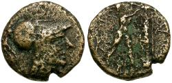 Ancient Coins - Kings of Macedon. Antigonas II Gonatas Æ 1/4 Unit / Pan Erecting Trophy